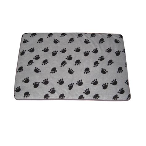 paw print comforter quilted cat dog pillow bedding matress bed padded grey