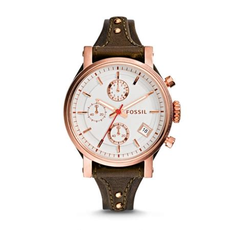 Jam Tangan Wanita Original Leather 1 jual jam tangan wanita fossil es3616 original boyfriend chronograph raisin leather baru