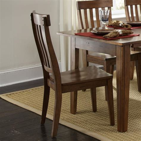 aamerica toluca solid wood slat back side chair rife s