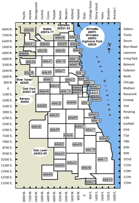 chicago map with zip codes chicago zip code by neighborhood map