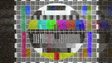 test pattern sound effect a flickering analog tv signal with bad interference