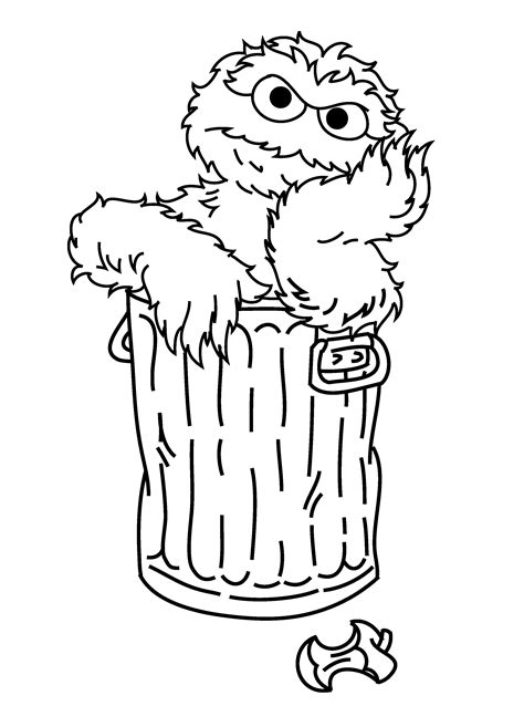 Oscar The Grouch Coloring Pages - AZ Coloring Pages Elmo Face Coloring Page