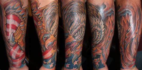 eagle quarter sleeve tattoo military half sleeve tattoodenenasvalencia