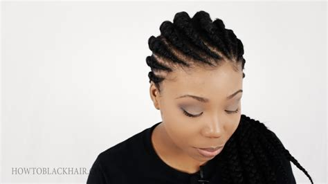 ghanaian line hairstyles ghana braids invisible cornrow braids hairstyle tutorial