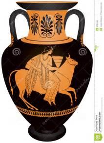 Ancient Greece Vase Amphore Europa Und Der Stier Vektor Abbildung Bild 43351486