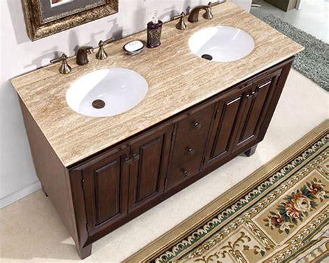 silkroad 55 quot double bathroom vanity white sinks