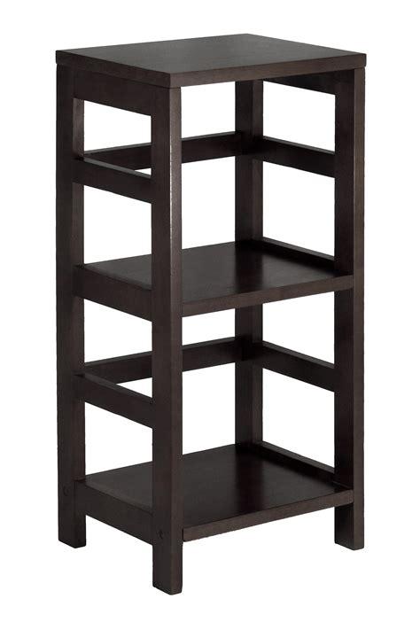 2 Tier Shelf by Winsome Leo Shelf Storage Book 2 Tier Narrow By Oj Commerce 92314 42 16
