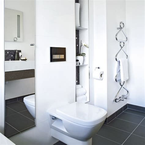Modern Bathroom White Modern Bathroom With Storage Storage White Bathrooms Housetohome Co Uk