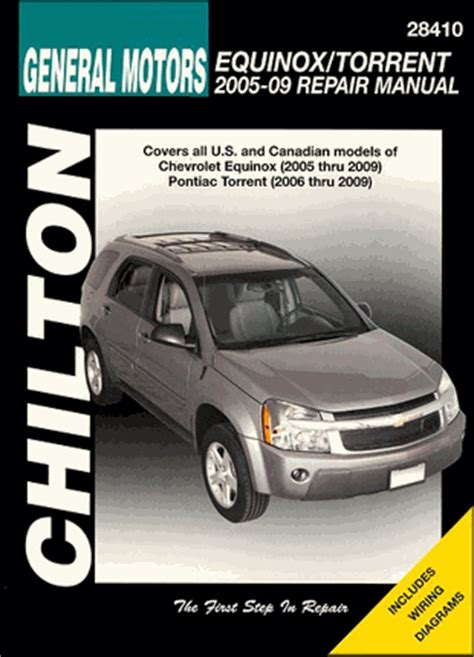 motor auto repair manual 2006 pontiac torrent auto manual chevrolet equinox pontiac torrent repair manual 2005 2009 chilton