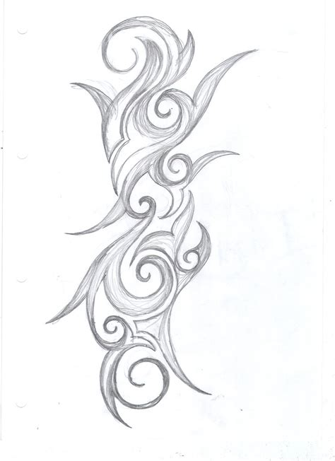 bow swirl tattoo design by average sensation images