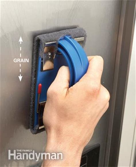 remove scratches from stainless steel sanding stainless steel appliances the family handyman