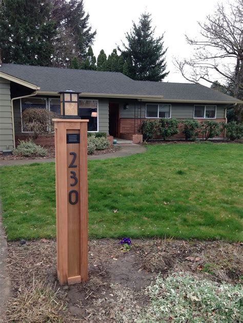 mission style l post lights craftsman l post with address numbers for the home