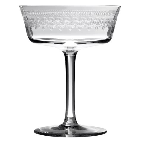retro glass retro fizzio 1910 coupe glass chagne saucer urban bar