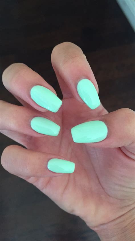 nail colors and designs coffin nails with gelish quot do you harajuku quot mint nail color