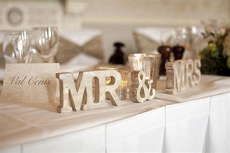 mr mrs sign for wedding table wedding mercury silver glass decorations details