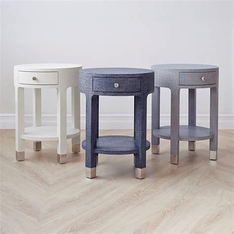 white round end table with drawer dakota 1 drawer round side table white bungalow 5
