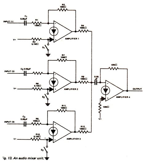 Pcb Mixer Audio audio mixer schematic diagram wiring diagram schemes