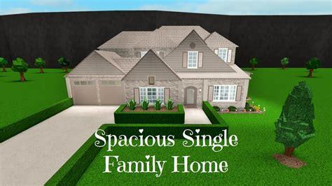 robloxbloxburg spacious single family home speed build