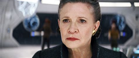 carrie fisher s wars the last jedi director on carrie fisher s last performance