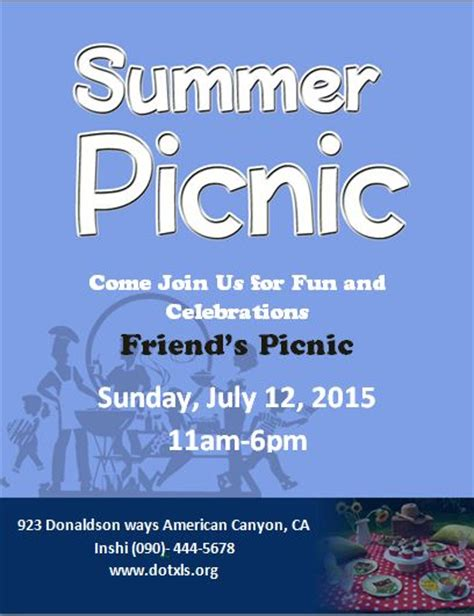 Ms Word Picnic Flyer Template Word Excel Templates Picnic Flyer Template Word
