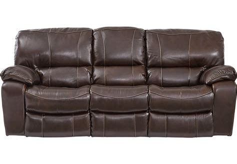 Leather Recliners Sofa by Sanderson Walnut Leather Reclining Sofa Leather Sofas