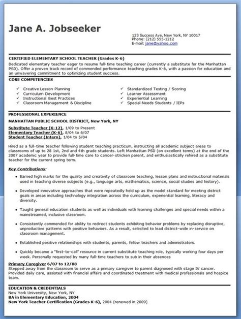 Elementary School Resume by Elementary Schools Resume And Schools On