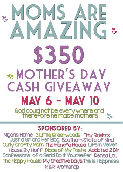 Mother S Day Giveaway - free mother s day printables and a mother s day giveaway the happy housie