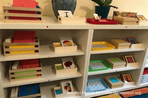 montessori bookshelves a tour of s montessori language shelves