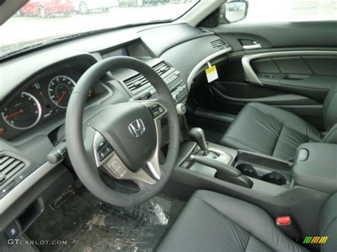 black interior 2012 honda accord ex l v6 coupe photo