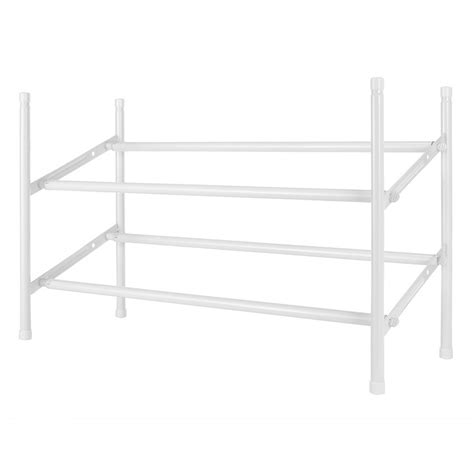 shop style selections 20 pair white metal shoe rack at