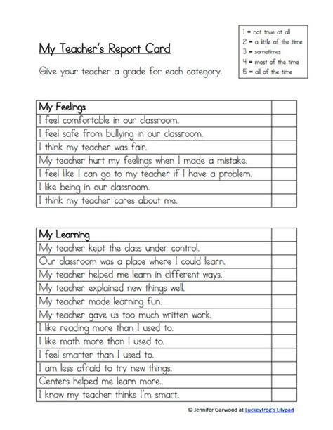 teachers report card template end of the year generic s report card pdf