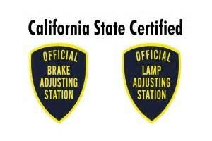 brake and light adjustment certificates brake l certification san diego brake and l