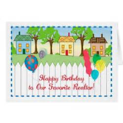 happy birthday to realtor greeting card zazzle