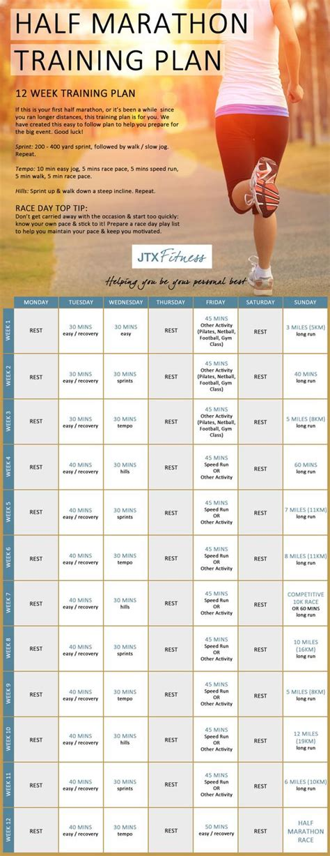half marathon training plans on pinterest half marathon training half marathon training plan marathon training plans and