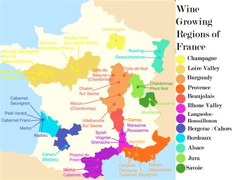 France Wine Regions Map by French Wine Forget Burgundy