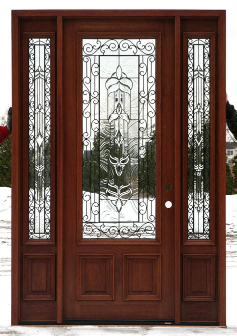 Exterior Doors With Glass Front Doors With Wrought Iron Wood Front Doors With Glass