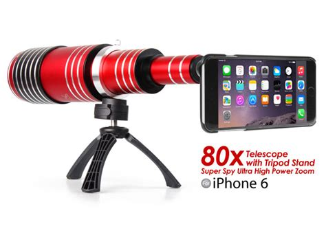 iphone 6 6s ultra high power zoom 80x telescope with tripod stand