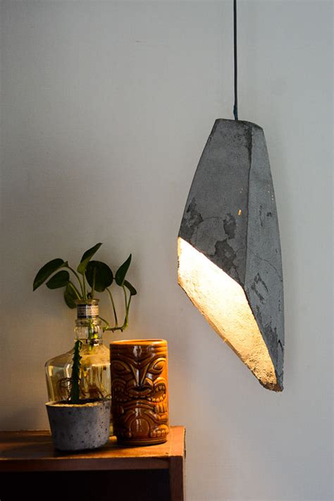 diy home lighting design creative diy light fixtures made of concrete