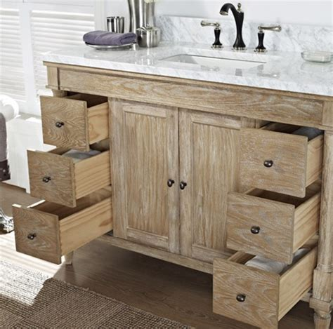Rustic Chic 48 Quot Vanity Weathered Oak Fairmont Designs Weathered Bathroom Vanity