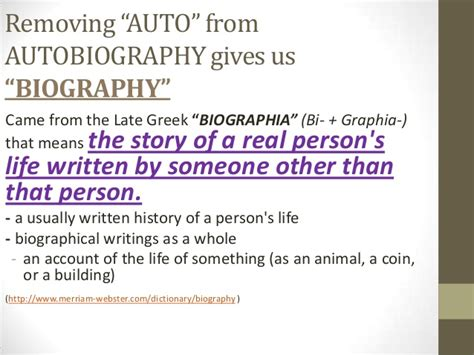 autobiography and biography are the same in that an introduction to autobiography and biography