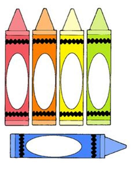 Blank Crayon Template Art Crafts For Kids Pinterest Crayons And Templates Crayon Label Template