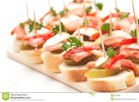 m canapes canapes with fish stock photo image of elegance prepared