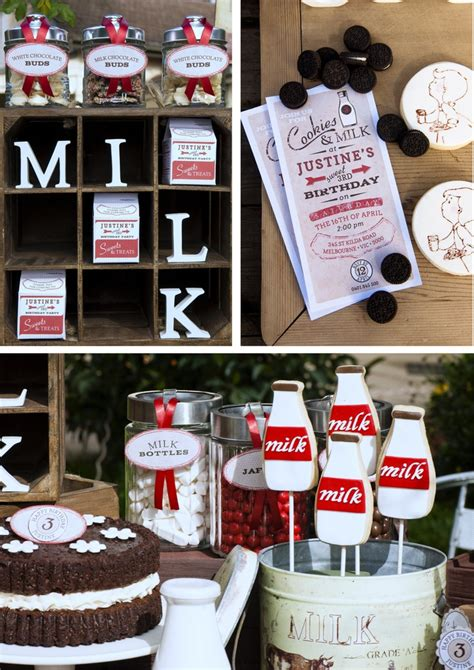 girl milk themes 26 best milk cookies birthday party images on pinterest