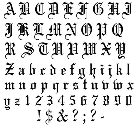 tattoo font english exciting old english lettering tattoo design ideas
