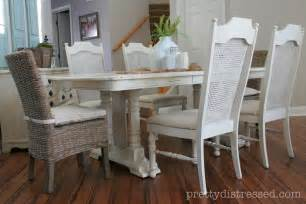 Chalk Paint Dining Room Table Pretty Distressed Eleanor S Table Before After