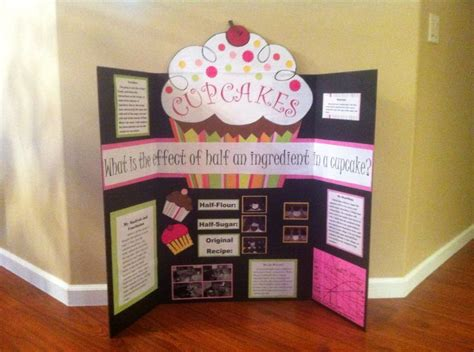 Cupcake Science Fair Projects Google Search Emma Science Fair Display Board Ideas