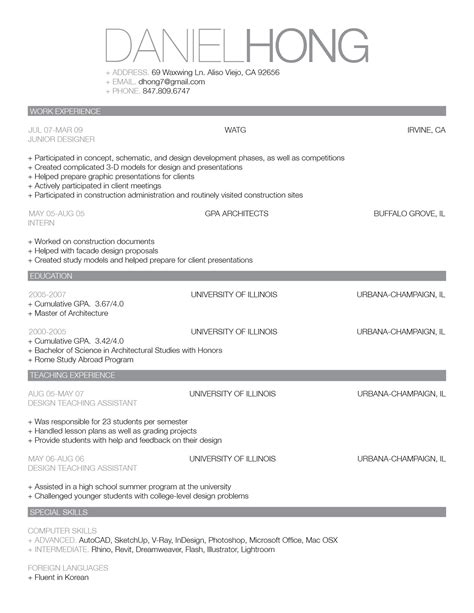 Best Looking Resume Templates by The Power Of Good Design Blog Entry 13 The Official