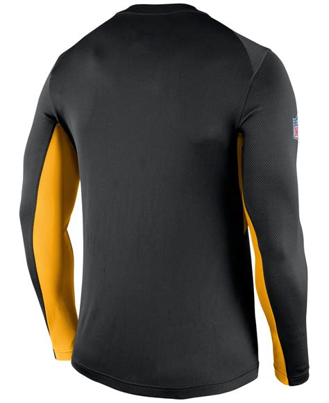 Longsleeve Black Gold 1933 Authentic mens 2015 nike nfl pittsburgh steelers t shirts 3