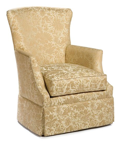 Swivel Accent Chair With Arms Fairfield Swivel Accent Chairs Swivel Chair With Track Arms And Skirt Olinde S Furniture