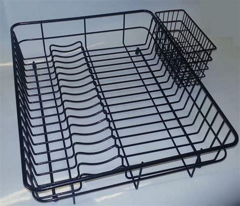 Large Wire Rack by Large Plastic Coated Black Dish Drainer Dish Rack Black